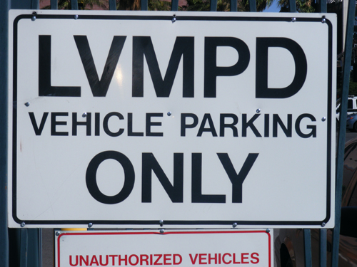LVMPD Las Vegas Metropolitan Police Department Vehicle Parking Only Sign